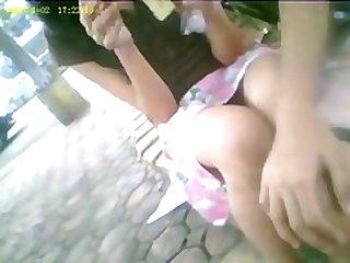 boso voyeur teen upskirt at a public park