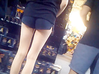 Mix babes with tight little asses in tights & shorts